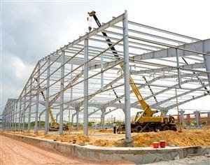 Xây lắp hệ kết cấu nhà xưởng